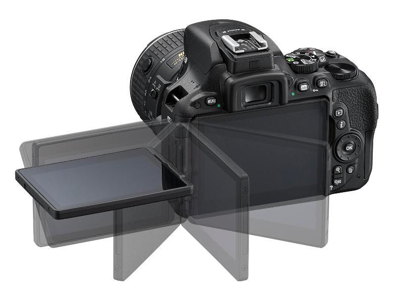 Nikon D5500, dönthető érintőképernyős D-SLR fényképezőgép