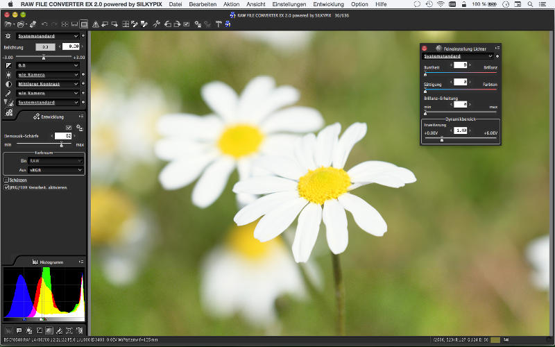 RAW File Converter EX 2.0 powered by SILKYPIX (Ver.4.1.1.0)