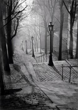 Brassai: Montmartre lépcsői 1930