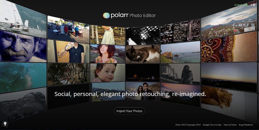 Polarr online photo editor
