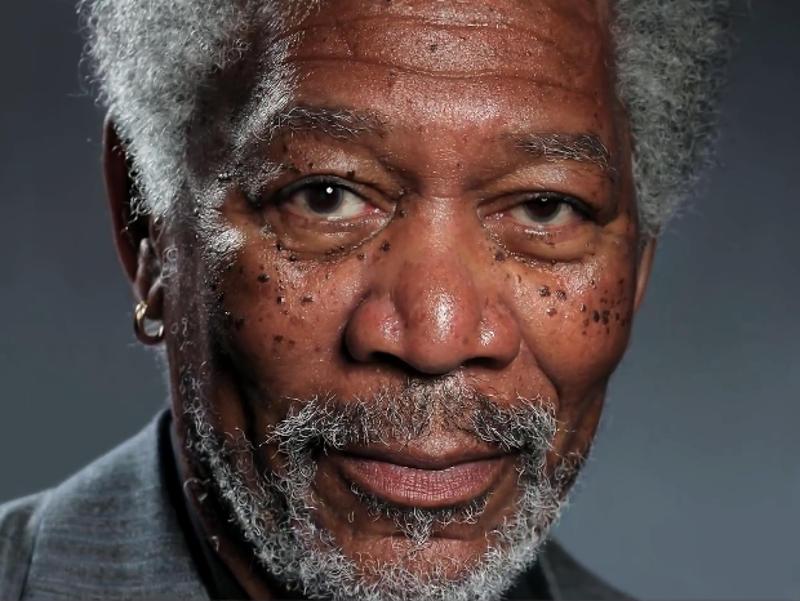Megdöbbentő Morgan Freeman fotó, vagy inkább művészeti alkotás?