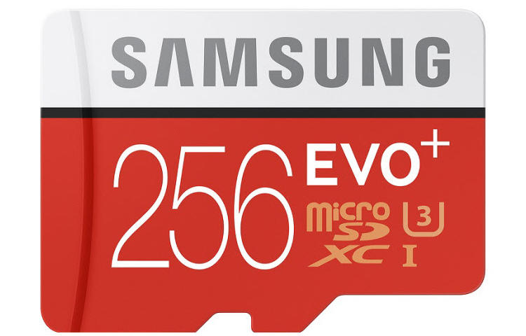 Samsung 256 GB-os EVO Plus MicroSD-kártya